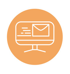 Computer email fast shipping related delivery vector
