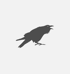 crow icon isolated on white background vector image