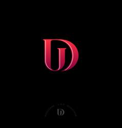 D u letters monogram web ui icon identity vector