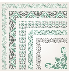 Decorative seamless islamic ornamental border vector image