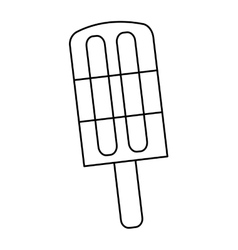 delicious popsicle sweet icon vector image