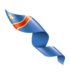Democratic republic congo flag vector