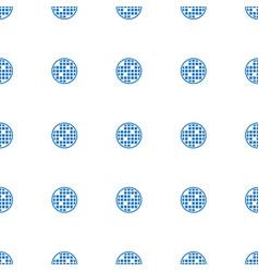disco ball icon pattern seamless white background vector image