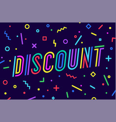 discount sale greeting card banner poster and vector image