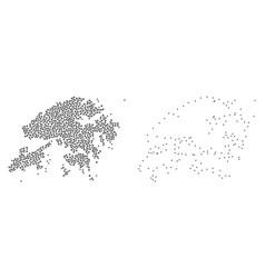 Dot contour map of hong kong vector