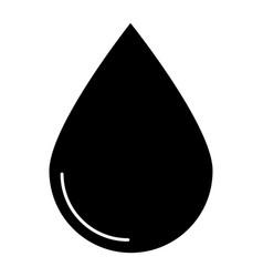 drop the black color icon vector image
