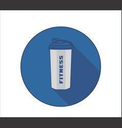 Fittness lifestyle icon with sport bottle symbol vector