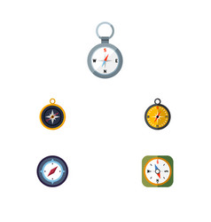 flat icon compass set of orientation direction vector image vector image