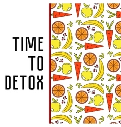 Food water and detox vector image