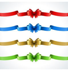 Gift bow and ribbon set vector image