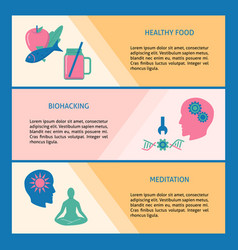 Health improvement concept flyer templates with vector