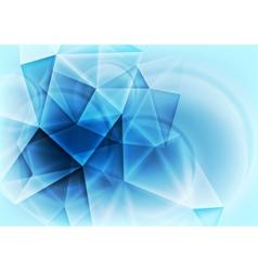 Hi-tech abstract blue design vector