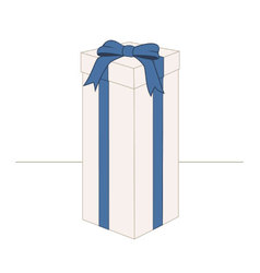 High rectangular gift box vector image