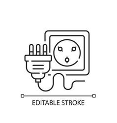 Industrial wall socket linear icon vector