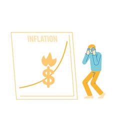 Inflation financial crisis investor lose money vector