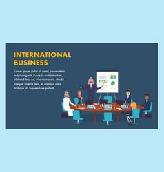 international business meeting company leadership vector image