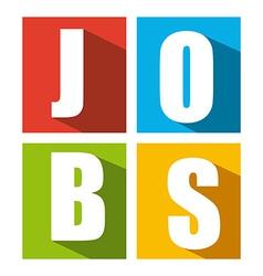 jobs design vector image