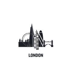 london art design concept flat vector image
