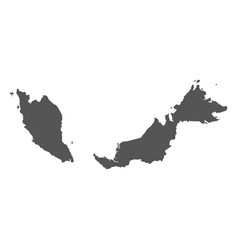 Malaysia map black icon on white background vector