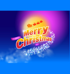 merry christmas design b vector image