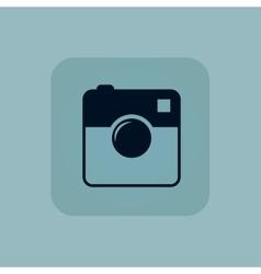 Pale blue square camera icon vector