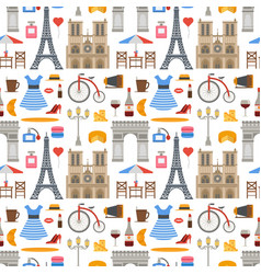 Paris famous travel cuisine traditional vector