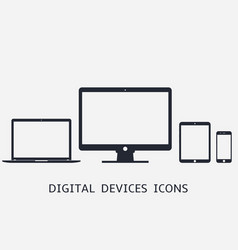 Phone tablet laptop computer responsive icons vector