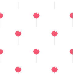 pink lollipop pattern seamless vector image