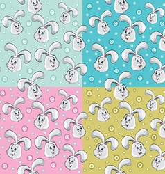 Rabbit pattern design vector image