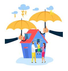 Real estate insurance flat vector