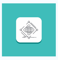 Round button for complex global internet net web vector