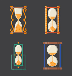 Sandglass icon time flat design history second old vector