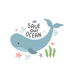 save oceans vector image