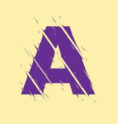 scribbled letter a vector image
