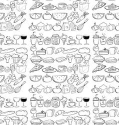 Seamless food vector image