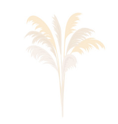 Silver pampas grass sheaf card template copy vector