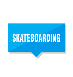 Skateboarding price tag vector