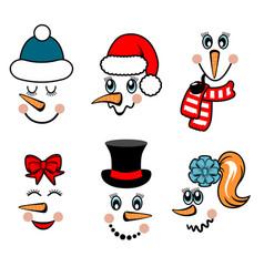 snowman face vector image