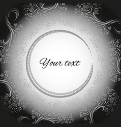 template for greeting cards in black and white vector image
