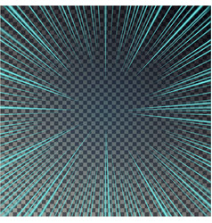 Transparent bright sun shines on a checkered backg vector