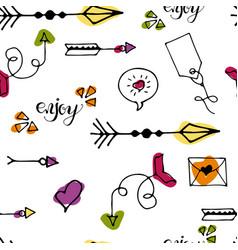tribal vintage arrows vector image