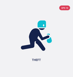 Two color theft icon from cyber concept isolated vector