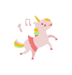 Unicorn Dancing In Skirt vector image