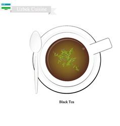 Uzbek Black Tea Popular Dink in Uzbekistan vector