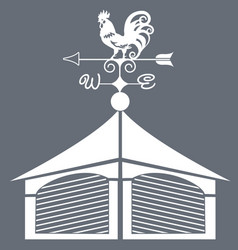 weather vane rooster black and white vector image