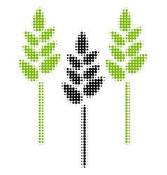 Wheat ears halftone icon vector