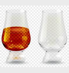 Whiskey tumbler glass transparent icon vector