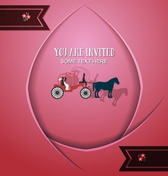 With wedding and carriage vector