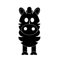 Zebra cute animal cartoon icon image vector