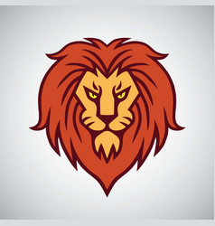 lion head logo mascot design template icon vector image